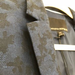 Banana Republic Navy Floral Suit Jacket 10 NWT